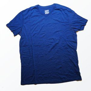 Mossimo Blue V-Neck T-Shirt Soft Athletic Fit